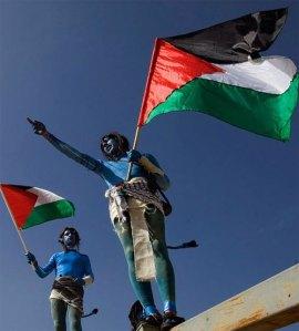 palestinos protestam usando avatar